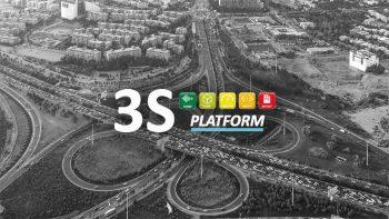 foto aerea nodo stradale con logo 3S platform